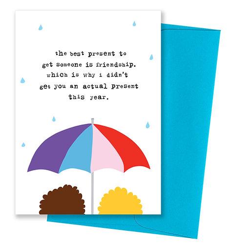 Best present - Birthday Card