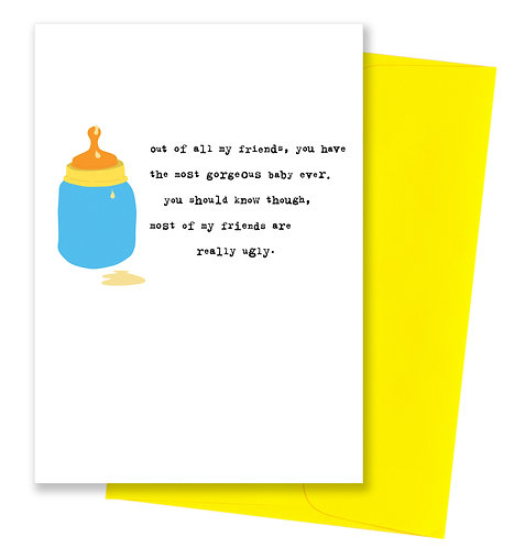 Gorgeous - Baby Card