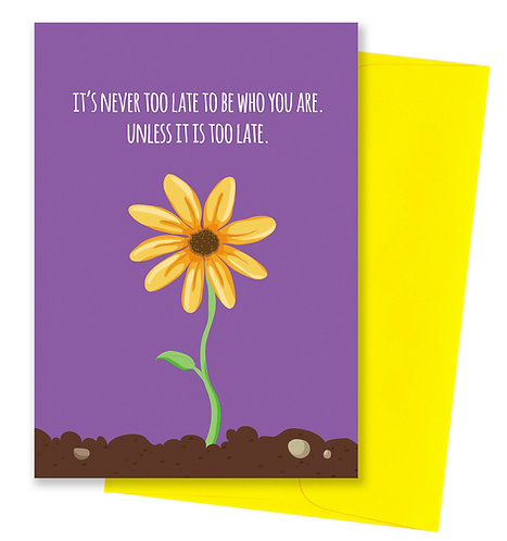 Flower - Uninspirational Card