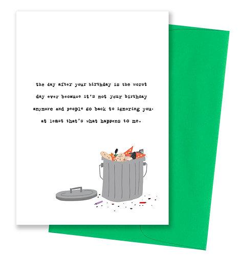 Ignoring you - Birthday Card