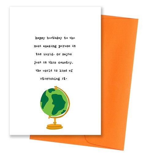 Most amazing birthday - Card