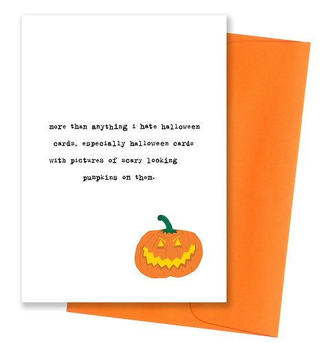 Hate halloween cards