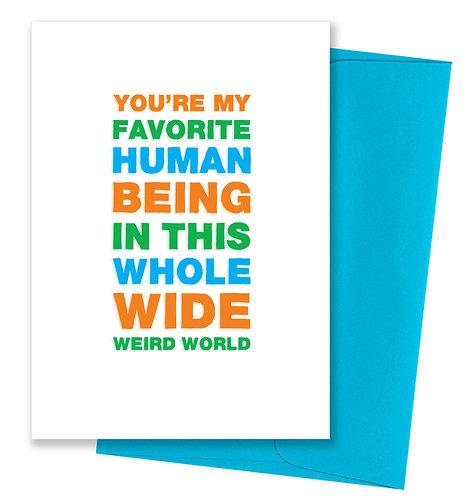 Weird world - Love Card