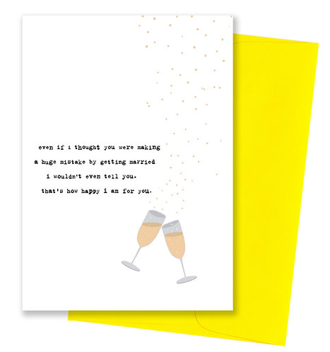 Huge mistake - Wedding Card