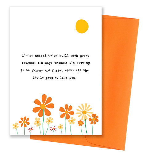 Grow up to be famous - Friendship Card 6 Pack
