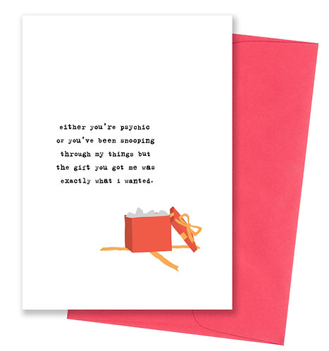 Psychic - Thank You Card