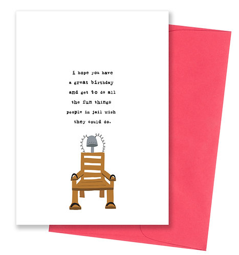 People in jail - Birthday Card