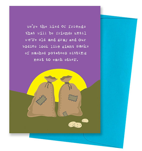 Mashed potatoes - Friendship Card 6 Pack