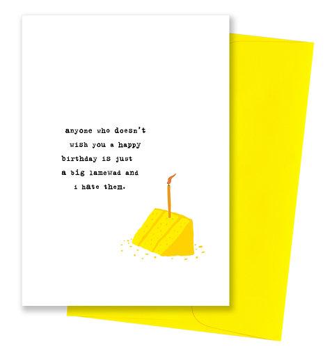 Big lamewad - Birthday Card