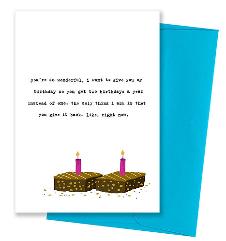Two birthdays - Card