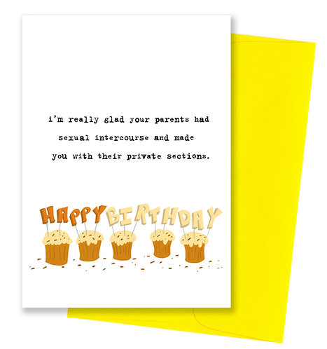 Private sections - Birthday Card