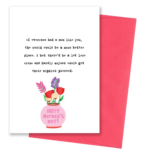 Nipples pierced - Mother's Day Card