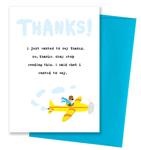 I wanted to say thanks - Card