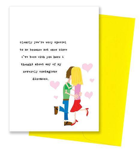 Contagious diseases - Love Card
