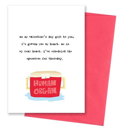 Giving you my heart - Valentine's Day Card