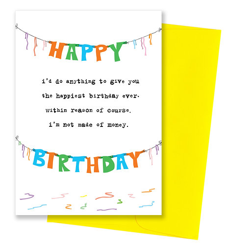 Happiest birthday ever - Card