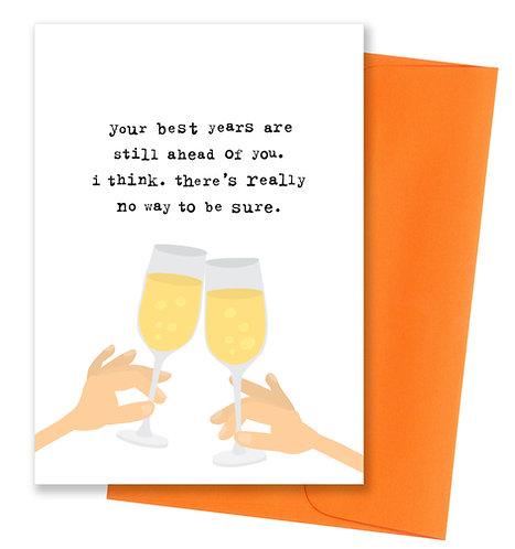 Best years - Birthday Card