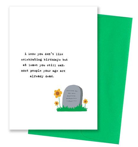 Already dead - Birthday Card