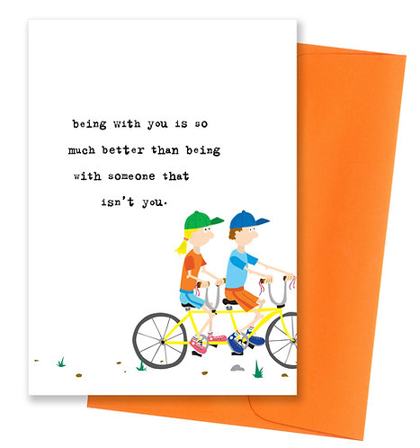Being with you - Love Card
