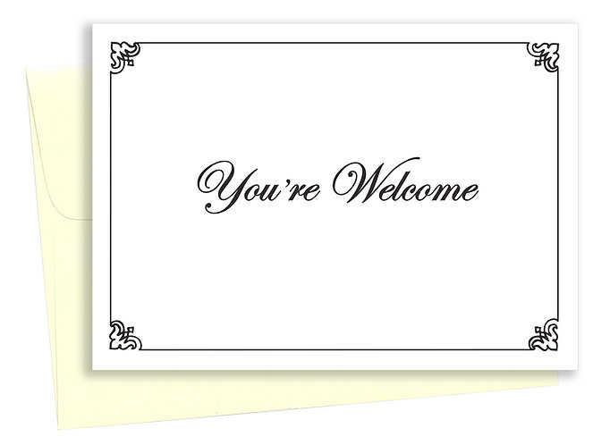 You're welcome - Card