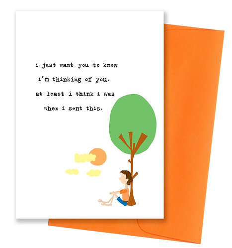 I'm thinking of you - Card