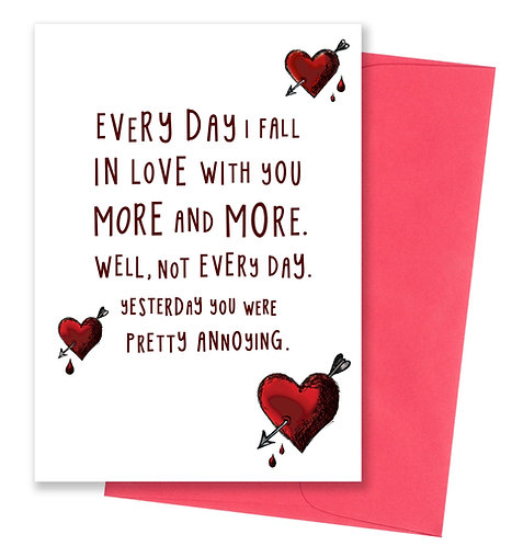 You were annoying limited edition - Love Card