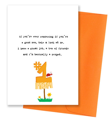 Basically a sexpot - Mother's Day Card