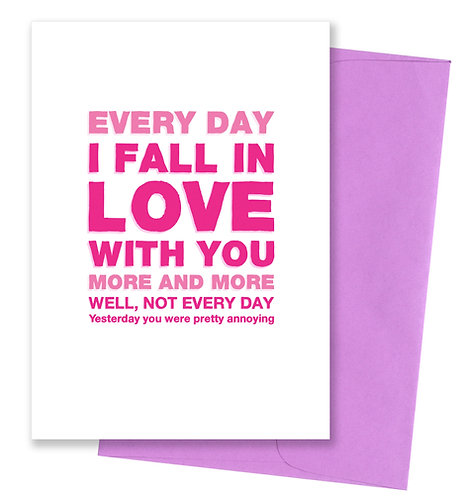 Every Day - Love Card