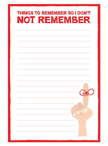 Don't not remember notepad