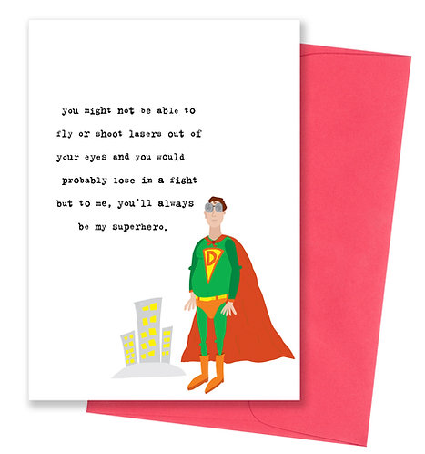 Always be my superhero - Father's Day Card