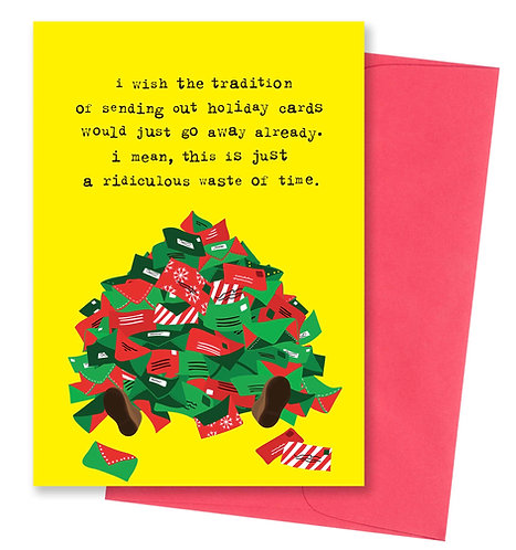 Waste of time - Holiday Card 8 Pack