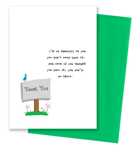 Don't even know it - Thank You Card 6 Pack