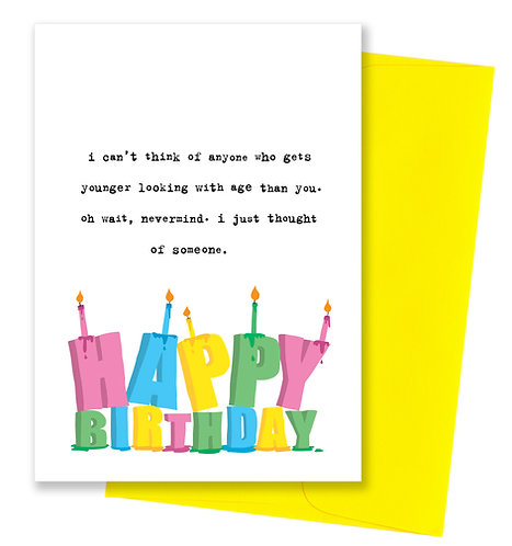Younger - Birthday Card
