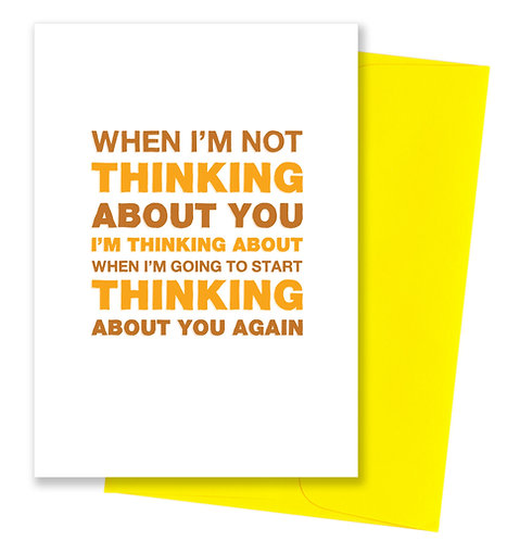 About you - Thinking Of You Card