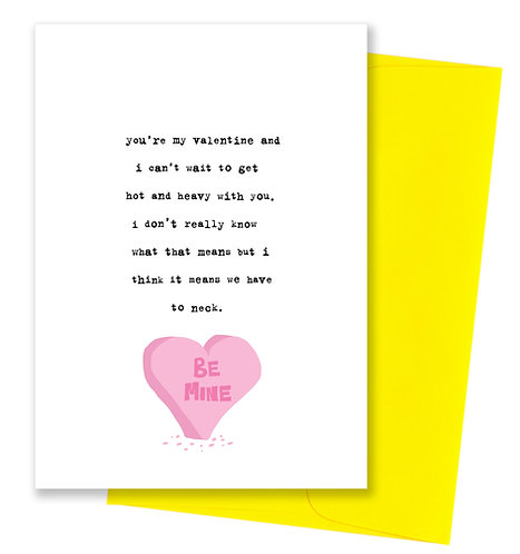 Hot and heavy - Valentine's Day Card