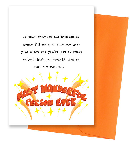 You're really wonderful - Love Card