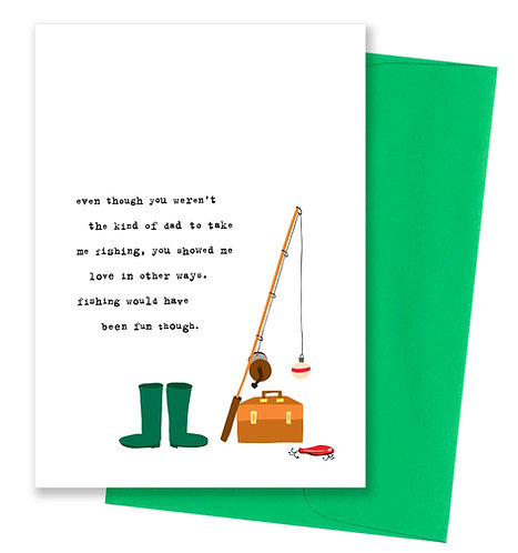 Fishing - Father's Day Card