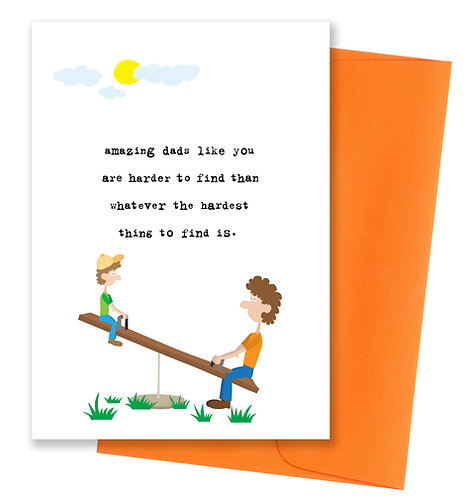 Harder to find - Father's Day Card