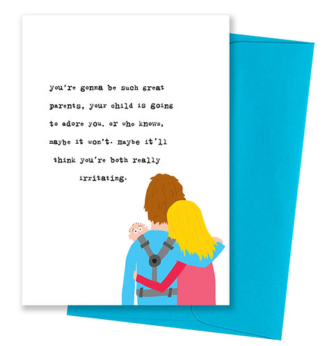 Such great parents - Baby Card