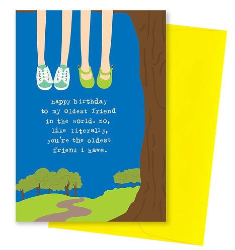 Oldest friend - Birthday Card