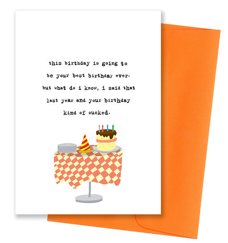 Best birthday - Card