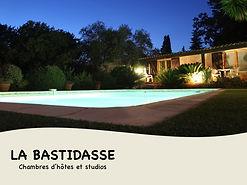 Chambres d'hôtes La Bastidasse - piscine de nuit - Côte d'Azur - French Riviera - La Roquette sur Siagne