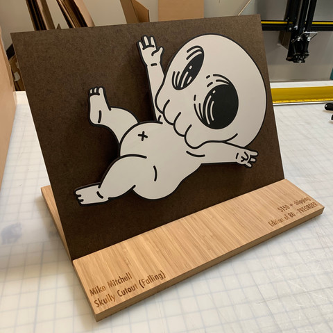 Mike Mitchell Falling Skully Display