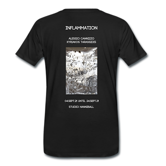 """Shirt """"Inflammation"""" with artwork from Alessio Cannizzo"""
