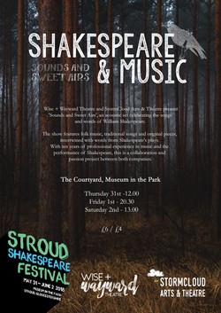 shaksspeare and music poster
