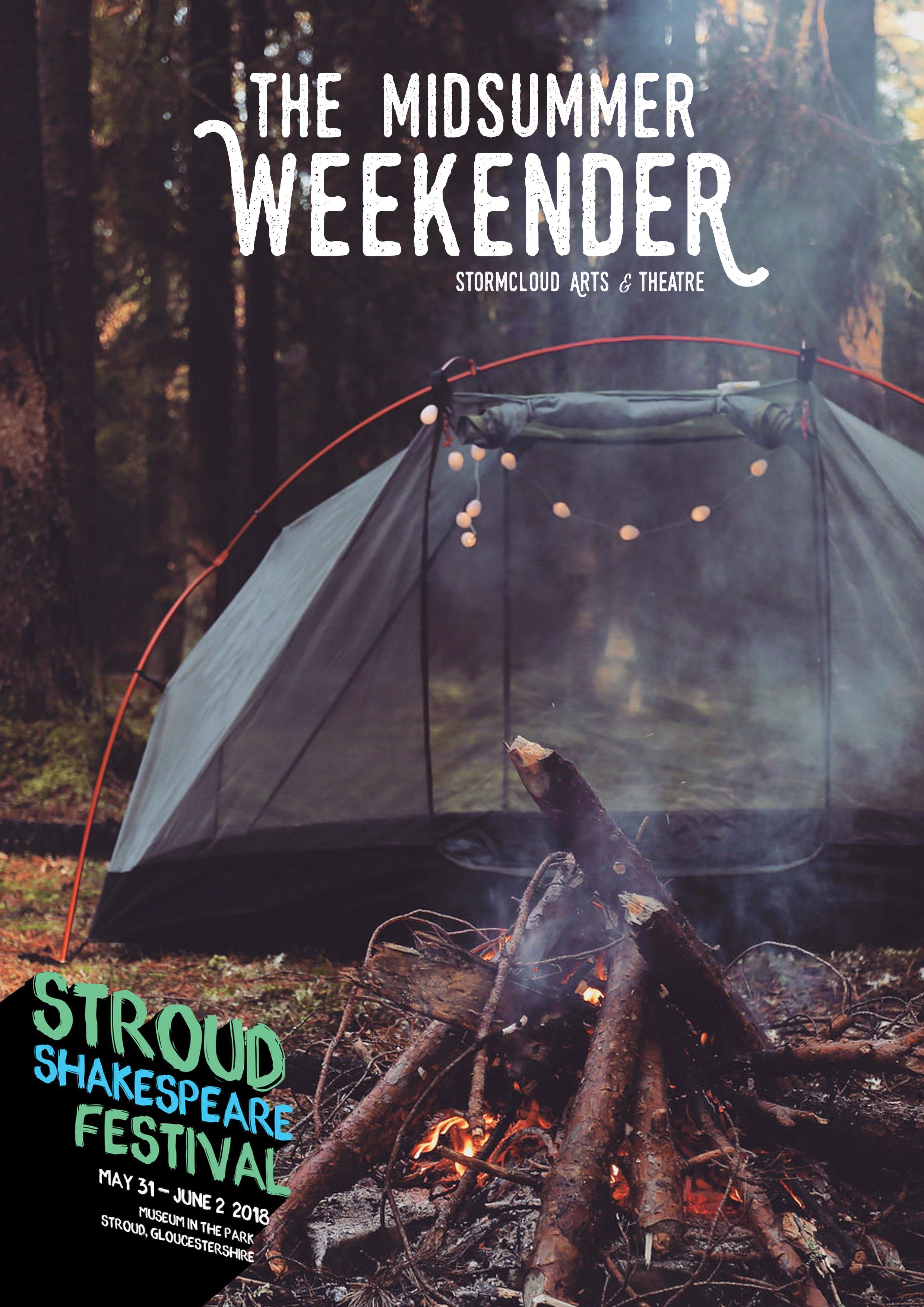 The midsummer weekender poster a4