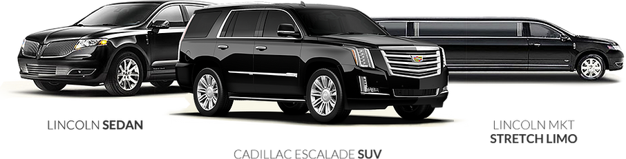 Lincoln MKT sedan, Cadillac Escalade SUV and MKT stretch limouisnbe