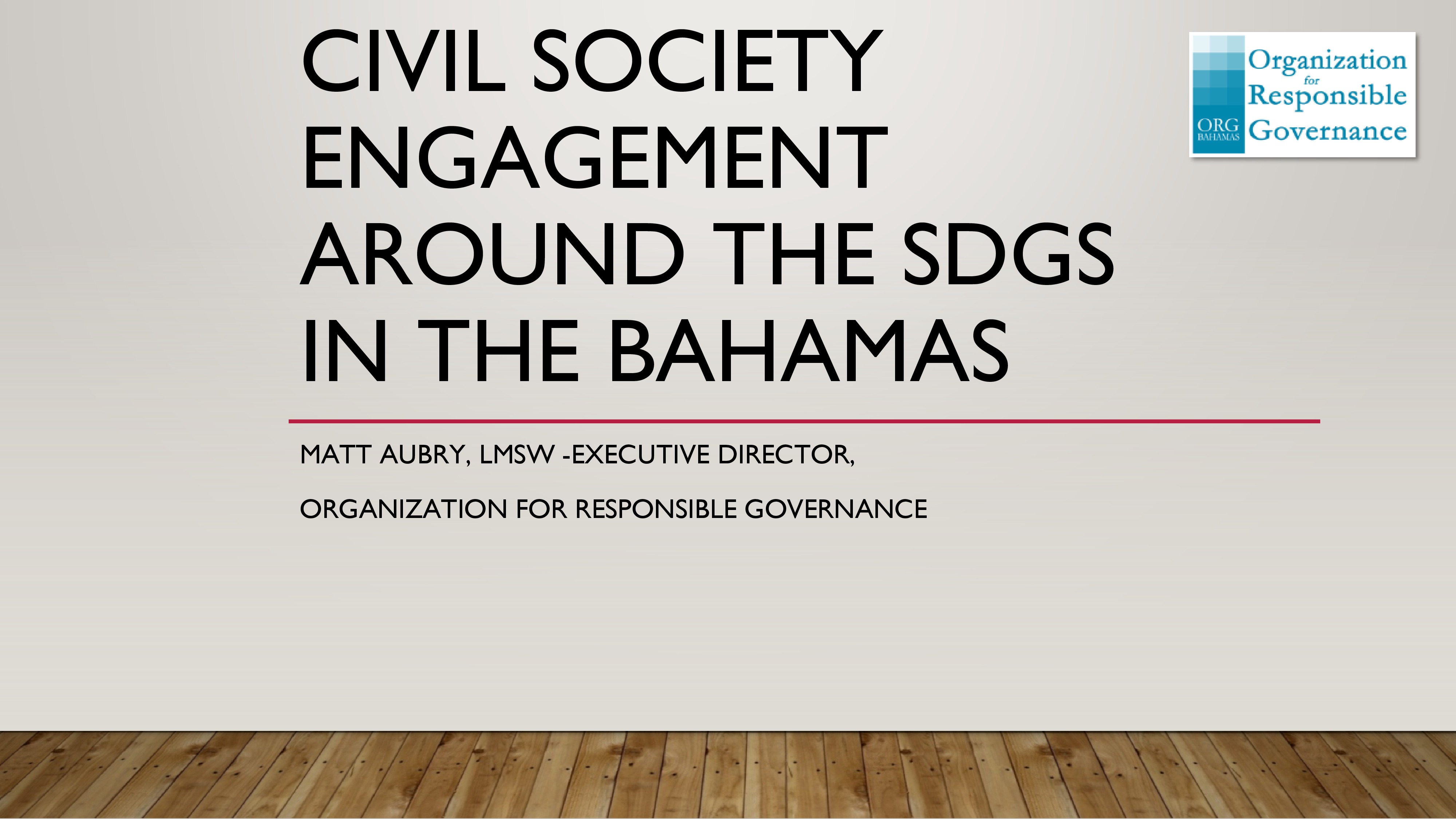 Civil Society Engagement around the SDGs in The Bahamas-0