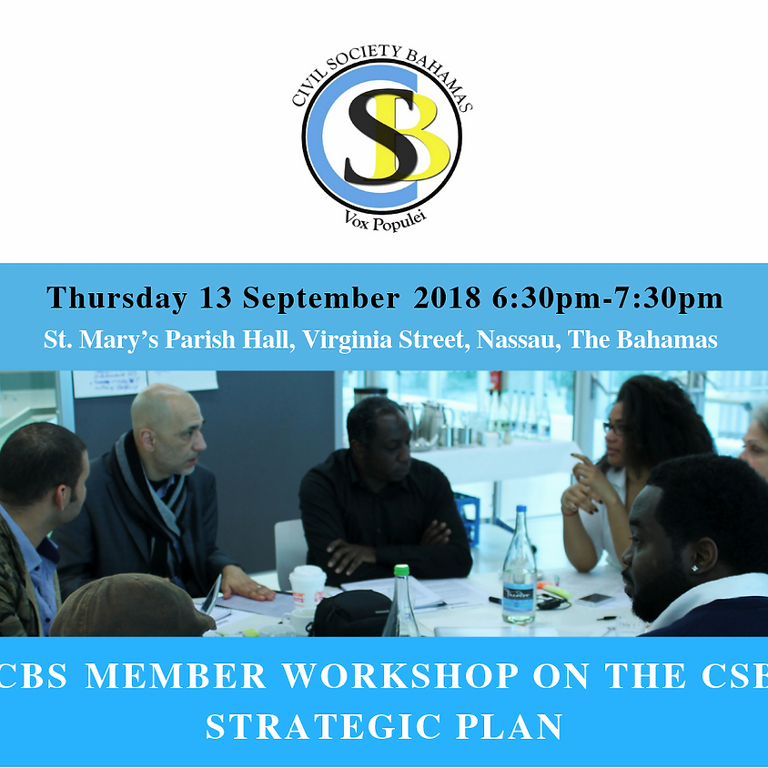 CSB Member Workshop of the CSB 3 Year Strategic Plan