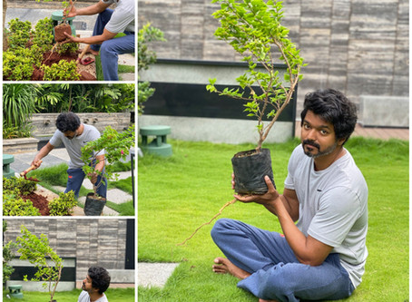 Thalapathy accepted Green india challenge